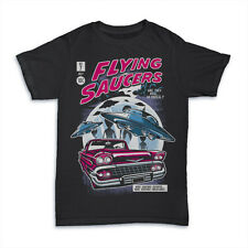 FLYING SAUCERS UFO ALIENS  dtg mens t shirt tees new 2017