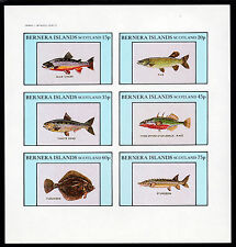 GB Locals - Bernera 3773 - 1982  FISH imperf sheetlet of 6 unmounted mint