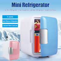 4L Portable Mini Refrigerator Cooler Warmer Fridge Box Dual-use For Car Home NEW