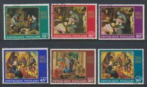 Togo - 1968, Xmas Paintings set - CTO - SG 621/6 (a)