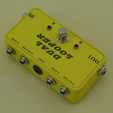2 Effects Loop True Bypass Pedal TRUE BYPASS Looper guitar AB Yellow