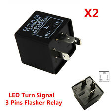 2pc 3 Pin Electronic Car LED Flasher Relay CF13 Fix Turn Signal Fast Blink Flash