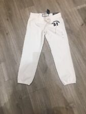 Abercrombie & Fitch Kids Girls White Sweatpants Banded Crop  BNWT