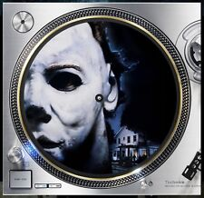 "Halloween Micheal Myers Slipmat Turntable 12"" LP Record Player, DJ Audiophile"