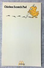 Vintage McDonald's Chicken Scratch Pad Note Pad 1980s McNuggets