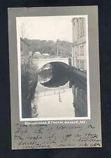 RPPC Bridge Kenduskeag Stream Bangor MAINE Penobscot County photo postcard DPO