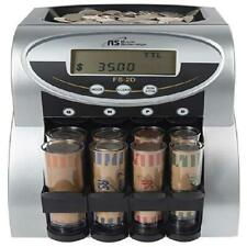 Electric Coin Sorter Counting Counter Machine Anti Jam Digital Automatic 2 Row