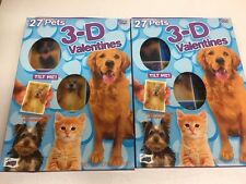 27 Valentines Day Card 3D - Pets Dog Cat Chihuahua Puppy Tabby Pk2 (Hya-365-2*A)