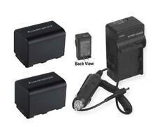 2 Batteries + Charger for Sony Hdr-Sr10 Hdr-Sr11 Hdr-Sr12 Hdr-Ux3 Hdr-Ux5 Hdrux7
