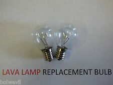 2 X 25w LAVA LAMP LIGHT BULB S type E17 BASE 25 watt S11, 25s11, 25s11N, S11N25