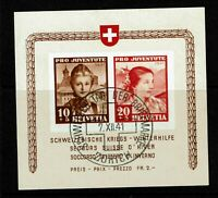 "Switzerland SC# B116 Used / Event Cancel / Back Signed ""Rellstag BP"" - S7694"