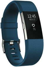 NEW Fitbit 3352573 Charge 2 Blue Silver Small