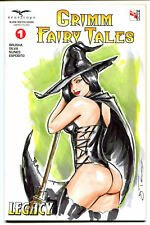ZENESCOPE Comics GRIMM FAIRY TALES #1 Sexy WICKED WITCH Original Art OZ WIZARDS