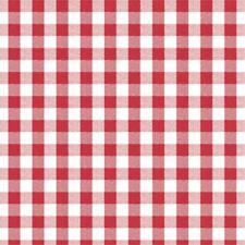 Red & White Check Vinyl Oil Cloth