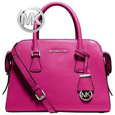 Michael Kors -Leather Satchel Harper  (Raspberry) - Silver Hardware   NWT $358