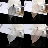 Women Special Leaves Leaf Sweater Pendant Necklace Ladies Long Chain Jewelry tgd