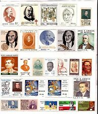 MEXICO 26 stamps NEW stuck on sheet, personalities and various BX29