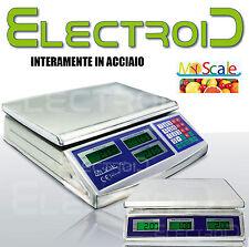 ACCIAIO TOP BILANCIA BANCO ELETTRONICA DIGITALE PROFESSIONALE 40KG COMMERCIANTE