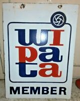 Vintage Enamel Porcelain Sign Wi Pa Ta Member Double-Sided Sign Board Rare #65