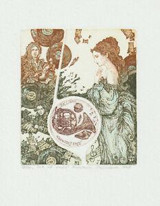 "Ex libris Exlibris ""Sea of Music"" by MELNIKOVA ANASTASIA / Ukr."