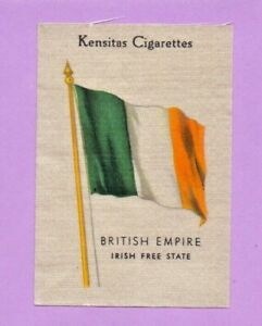 KENSITAS silk Cigarette Card IRISH FREE STATE Flags of the British Empire