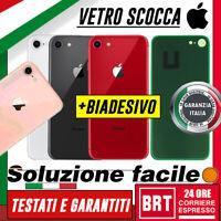VETRO BACK COVER SCOCCA POSTERIORE per APPLE IPHONE 8 HOUSING TELAIO RETRO_24H!!