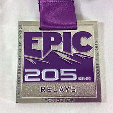 2015 Epic 205 Mile Cache Teton Relay Race Medal Utah Wyoming Marathon Ragnar