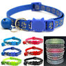 Adjustable Pet Dog Reflective Collar Small Pets Nylon With Bell For Puppy Cat#