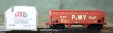 55260 Micro Trains N Scale 33' Twin Hopper Pittsburgh & West Virginia 380 Nib