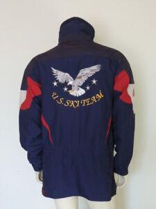 Vintage SPYDER Navy Blue Olympics US SKI TEAM Hooded Jacket Size MEDIUM