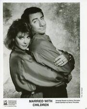AMANDA BEARSE DAVID GARRISON PORTRAIT MARRIED WITH CHILDREN 1988 FOX TV PHOTO
