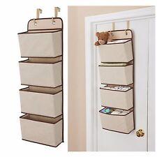 New 4 Pocket Hanging Wall Organizer Home Kitchen Tool Storage Rack Door Gift