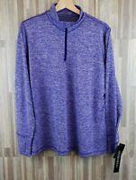 Ideology Women's Athletic 1/4 Zip Jacket w/ Thumb Holes, Purple NWT $34.50