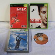 Original Xbox Game Lot Dave Mirra BMX 2 Tony Hawk's Project 8 Underground Amped