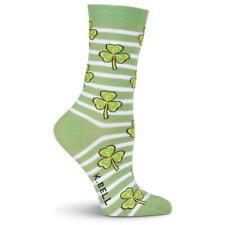 2475d32c9 Striped Shamrocks K Bell Trouser Crew Socks New Women Size 9-11 Clover  Fashion