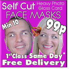 13 Custom Made Self Cut Face Mask Kits Birthday Party Fancy Dress Stag Hen Party