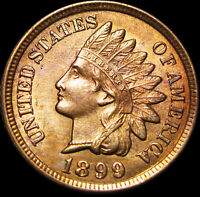 1899 Indian Cent Penny ---- GEM BU++ ----  #D784