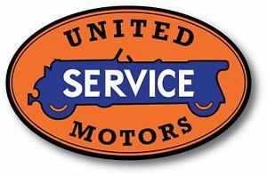 UNITED MOTOR SERVICE GASOLINE OIL SUPER HIGH GLOSS OUTDOOR DECAL STICKER