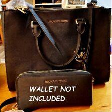 MICHAEL KORS Sutton Black Saffiano Large Satchel Handbag - New wo Tags