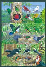 Solomon Is. - Sc# 1021-3. 2005 Birds. 3 MNH Souv. Sheets. $32.50.