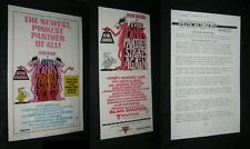 Original SOUTH PACIFIC PINK PANTHER STRIKES AGAIN Air New Zealand Promo + US O/S