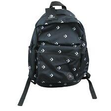 Converse Chuck Taylor Black White Logo Backpack School Bag NEW 10003337-A11