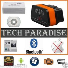 Interface Valise diagnostic Diag ELM327 HUD OBDII Bluetooth Vgate ICar 2 + CD