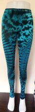 Modern Tie Dye Leggings Funky Festival Yoga mantenere fresco Fit Fun Verde Turchese