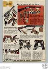 1966 PAPER AD Toy Gun Holster Cartwrights Bonanza Mustang Laredo Shenandoah Tot