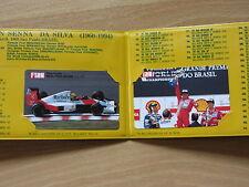 Ayrton Senna Telefonkarten Folder limitiert 2 jap. Karten ungebraucht super rar