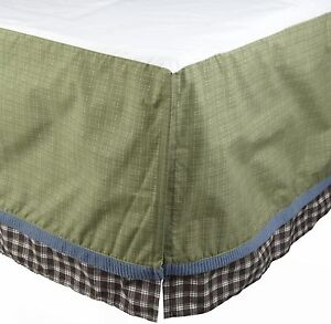 "New Cocalo Kids ""Sports Fan"" Twin Full Dust Ruffle/Bedskirt Green NIP"