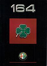 Alfa Romeo 164 3.0 V6 Cloverleaf 1990-91 UK Market Sales Brochure
