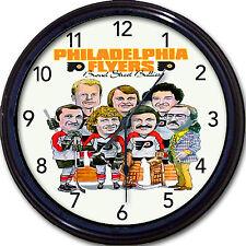 Philadelphia Flyers Hockey Broad Street Wall Clock Bobby Clarke Stanley Cup NHL