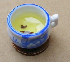 1:12 Scale White Chamber Pot With Blue Motif Needs Emptying Tumdee Dolls House